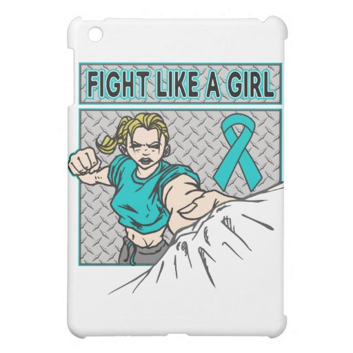 Ovarian Cancer Fight Like A Girl Punch iPad Mini Cases