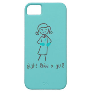 Ovarian Cancer Fight Like A Girl (Retro) iPhone 5 Covers