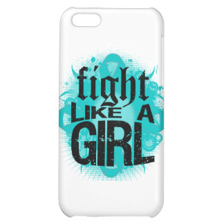 Ovarian Cancer Fight Like A Girl Rock Ed. iPhone 5C Cases
