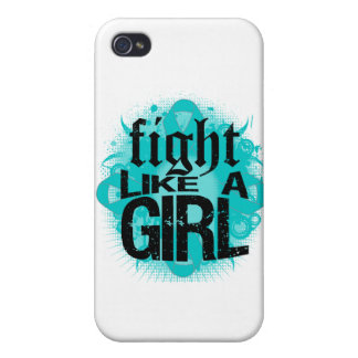 Ovarian Cancer Fight Like A Girl Rock Ed. Cover For iPhone 4