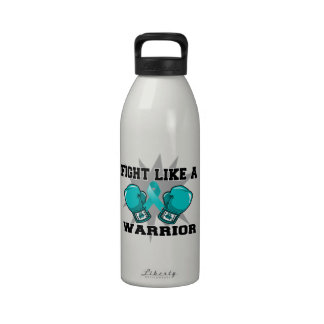 Ovarian Cancer Fight Like a Warrior Water Bottles