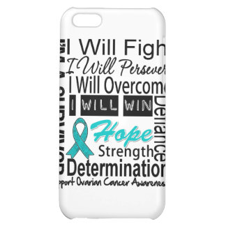 Ovarian Cancer Fight Persevere Overcome Win iPhone 5C Cover