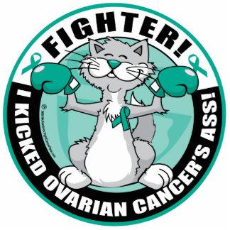 Ovarian Cancer Fighter Cat Cutout