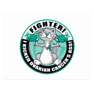 Ovarian Cancer Fighter Cat Postcard