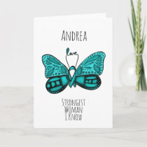 Ovarian Cancer Fighter Support Customisable Card