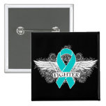 Ovarian Cancer Fighter Wings 2 Inch Square Button