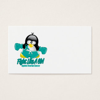 Ovarian Cancer Fighting Penguin Business Card