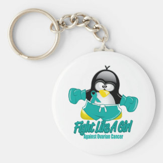 Ovarian Cancer Fighting Penguin Keychain