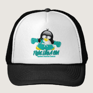 Ovarian Cancer Fighting Penguin Trucker Hat