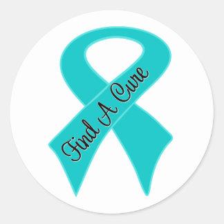 Ovarian Cancer Find A Cure Classic Round Sticker