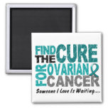 Ovarian Cancer FIND THE CURE 1 2 Inch Square Magnet