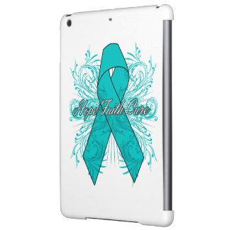 Ovarian Cancer Flourish Hope Faith Cure Cover For iPad Air
