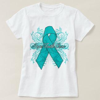 Ovarian Cancer Flourish Hope Faith Cure Tee Shirts