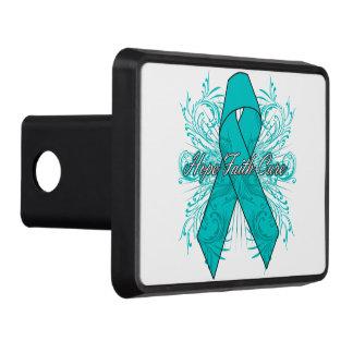 Ovarian Cancer Flourish Hope Faith Cure Tow Hitch Covers