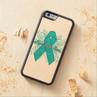 Ovarian Cancer Flourish Hope Faith Cure Carved® Maple iPhone 6 Bumper
