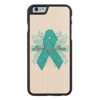 Ovarian Cancer Flourish Hope Faith Cure Carved® Maple iPhone 6 Slim Case