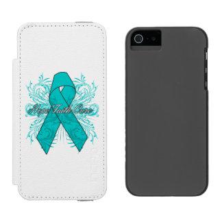 Ovarian Cancer Flourish Hope Faith Cure Incipio Watson™ iPhone 5 Wallet Case