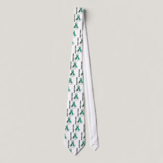 Ovarian Cancer Flower Ribbon 3 Neck Tie