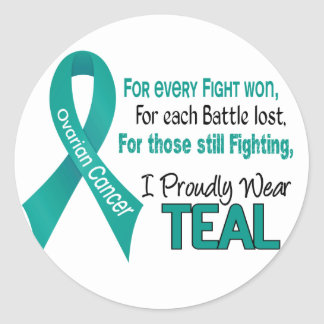 Ovarian Cancer For Every…..I Proudly Wear Teal 1 Classic Round Sticker
