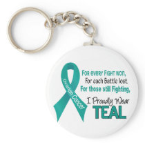 Ovarian Cancer For Every…..I Proudly Wear Teal 1 Keychain
