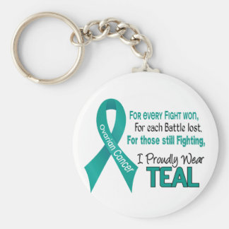 Ovarian Cancer For Every…..I Proudly Wear Teal 1 Key Chains