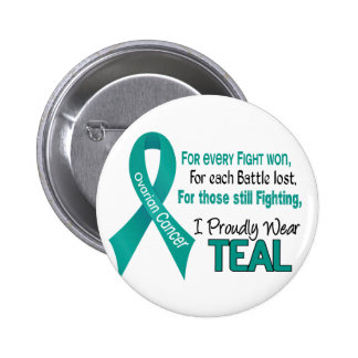 Ovarian Cancer For Every…..I Proudly Wear Teal 1 Pinback Button