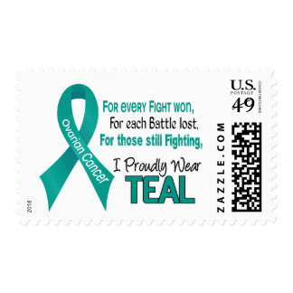 Ovarian Cancer For Every…..I Proudly Wear Teal 1 Stamps