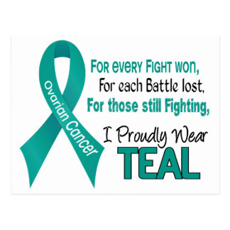 Ovarian Cancer For Every…..I Proudly Wear Teal 1 Postcard