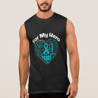 Ovarian Cancer For My Hero Sleeveless Tee