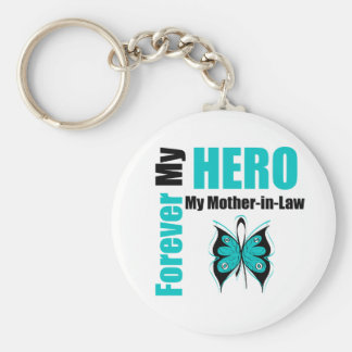 Ovarian Cancer Forever My Hero My Mother-in-Law Key Chain