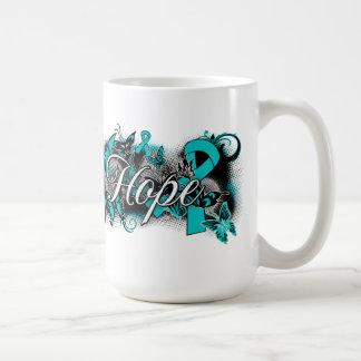 Ovarian Cancer Garden Ribbon Coffee Mug