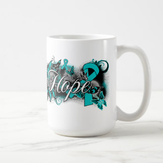 Ovarian Cancer Garden Ribbon Classic White Coffee Mug