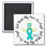 Ovarian Cancer God Made My Hero An Angel Refrigerator Magnet