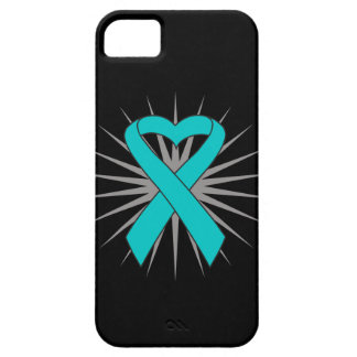 Ovarian Cancer Heart Ribbon iPhone 5 Covers