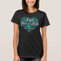 ovarian cancer heart T-Shirt