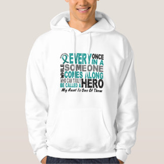 Ovarian Cancer Hero Comes Along AUNT Hoodie