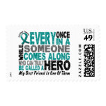 Ovarian Cancer Hero Comes Along BEST FRIEND Postage Stamp
