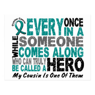 Ovarian Cancer Hero Comes Along COUSIN Postcard