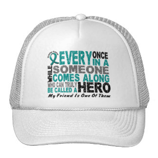 Ovarian Cancer Hero Comes Along FRIEND Trucker Hat