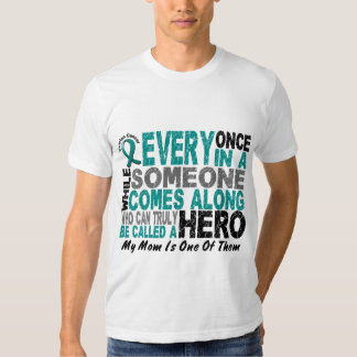 Ovarian Cancer Hero Comes Along MOM T-shirt