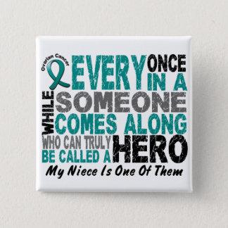 Ovarian Cancer Hero Comes Along NIECE Button