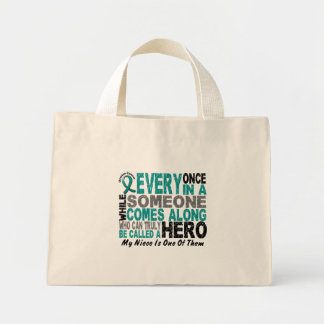 Ovarian Cancer Hero Comes Along NIECE Mini Tote Bag