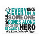 Ovarian Cancer Hero Comes Along NIECE Post Card