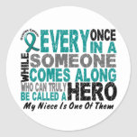 Ovarian Cancer Hero Comes Along NIECE Stickers