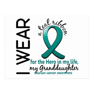 Ovarian Cancer Hero In My Life Granddaughter 4 Postcard