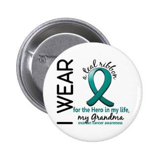 Ovarian Cancer Hero In My Life Grandma 4 Pinback Button