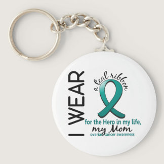 Ovarian Cancer Hero In My Life Mom 4 Keychain