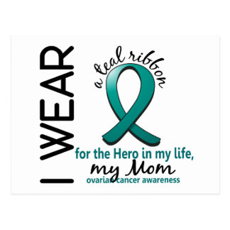 Ovarian Cancer Hero In My Life Mom 4 Postcard
