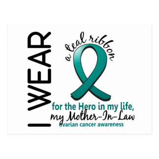Ovarian Cancer Hero In My Life Mother-In-Law 4 Postcard