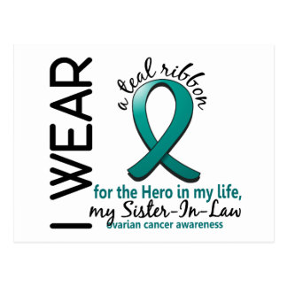 Ovarian Cancer Hero In My Life Sister-In-Law 4 Postcard